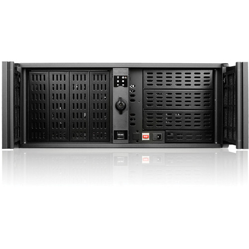iStarUSA D-414L-7 4U 14 Slots Industrial PC Rackmount Chassis (Black)