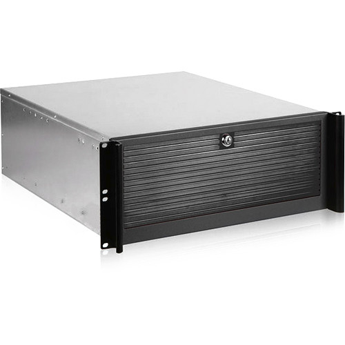 iStarUSA D Value Compact Rackmount Chassis with 500W Redundant Power Supply (4 RU)