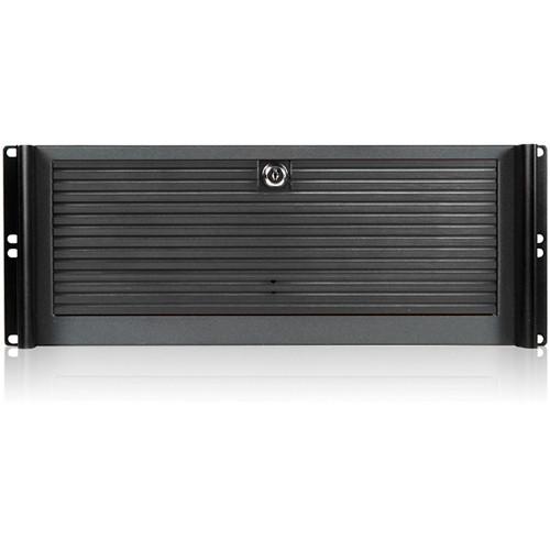 "iStarUSA D-416-B10SA 4U Compact Stylish Rackmount Chassis for 10 x 3.5"" Hotswap Drives PS2 PSU (Black)"