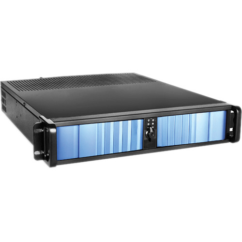 iStarUSA D Storm D-200SEA 2U Compact Stylish Rackmount Chassis with Blue SEA Bezel