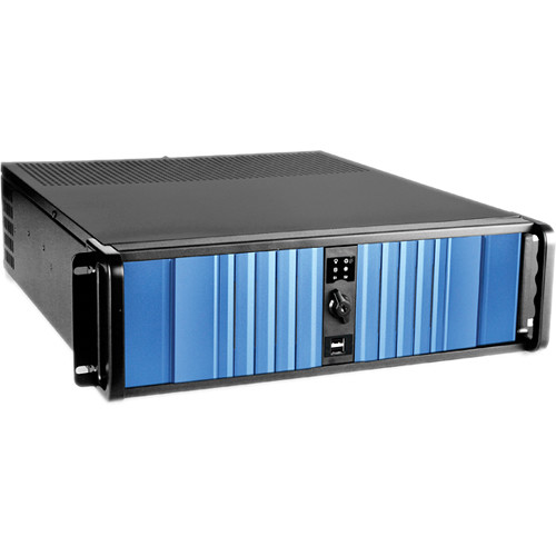 iStarUSA D Storm D-300SEA 3U Compact Stylish Rackmount Chassis with SEA Bezel (Blue)