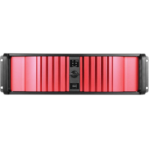 iStarUSA D Storm D-300SEA-RD 3U Compact Stylish Rackmount Chassis with SEA Bezel (Red)