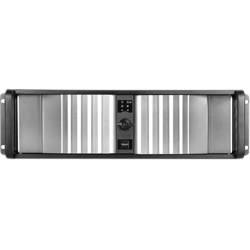 iStarUSA D Storm D-300SEA-SL 3U Compact Stylish Rackmount Chassis with SEA Bezel (Silver)