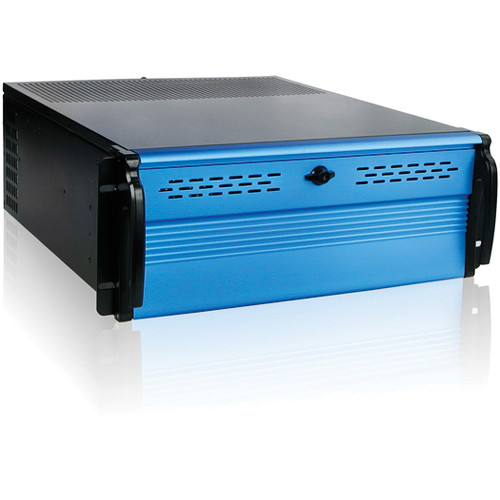 iStarUSA D Storm Series D2-400-7-BLUE 4U Compact Stylish Rackmount Chassis (Blue)