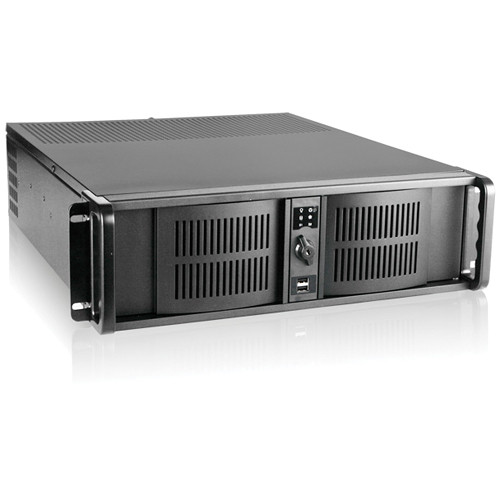 iStarUSA D Storm Series D-300 3U Compact Stylish Rackmount Chassis (Black)