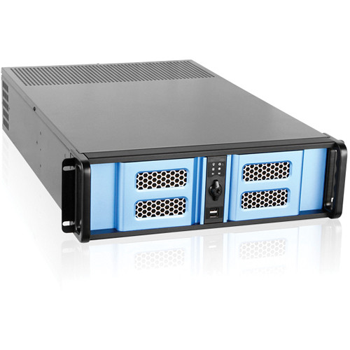 iStarUSA D Storm Series D-300LSE 3U High Performance Rackmountable Chassis (Blue / Black)