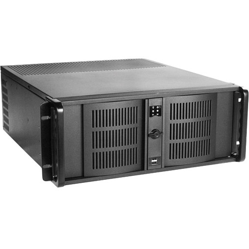 iStarUSA D Storm Series 4U Compact Stylish Rackmountable Chassis (Black Bezel)