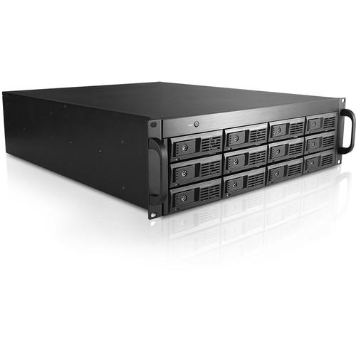 "iStarUSA 12-Bay 3.5"" SAS/SATA 6.0Gbps miniSAS SFF8088 JBOD Trayless Rackmount Chassis (3RU, 500W)"