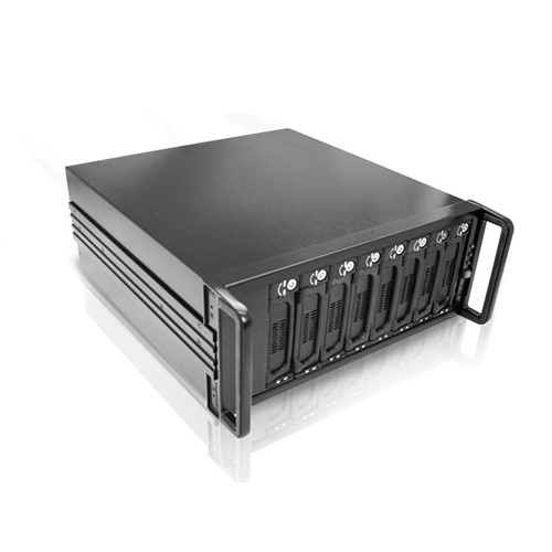 iStarUSA SFF8088 Mini-SAS 4U 8-Bay SATA JBOD 500W PSU Enclosure (Black)