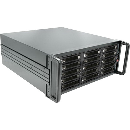 iStarUSA 4U 15-Bay SATA eSATA Port Multiplier JBOD Chassis with 750W Power Supply (Plastic HDD Handles)