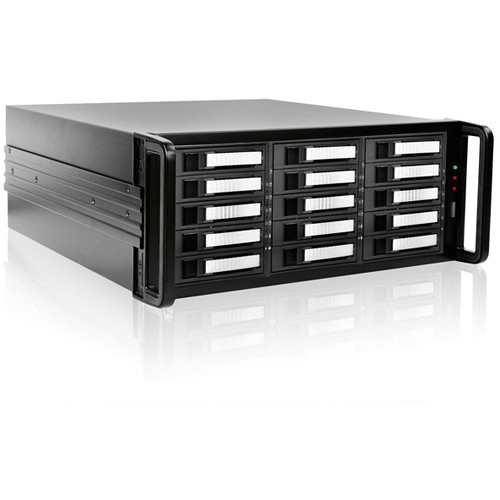 iStarUSA 4U 15-Bay SATA eSATA Port Multiplier JBOD Chassis with 750W Power Supply (Silver HDD Handles)