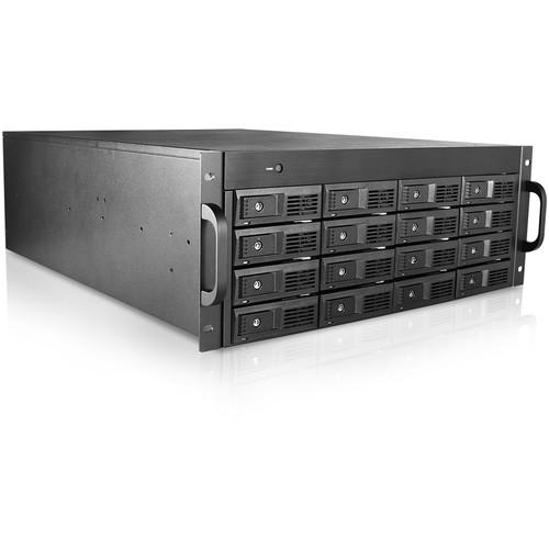 "iStarUSA 16-Bay 3.5"" SAS/SATA 6.0Gbps miniSAS SFF8088 JBOD Trayless Rackmount Chassis (4RU, 750W)"