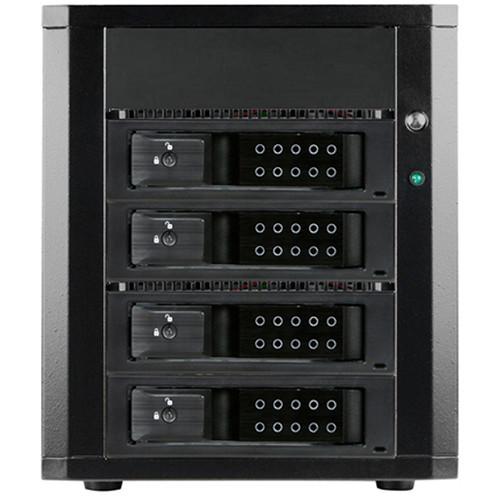"iStarUSA 4 x 3.5"" Bay SAS/SATA 6.0 Gb/s MiniSAS Trayless Hot-Swap Enclosure (Black)"