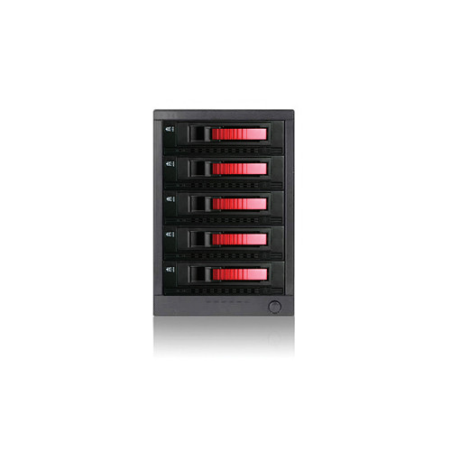 "iStarUSA 3.5"" 5-Bay SAS/SATA eSATA-Port Multiplier Hot-Swap Enclosure (Red)"