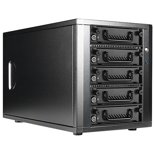 iStarUSA 5-Bay SATA 6.0 Gb/s eSATA-Port Multiplier Hotswap JBOD Enclosure with 250W Power Supply