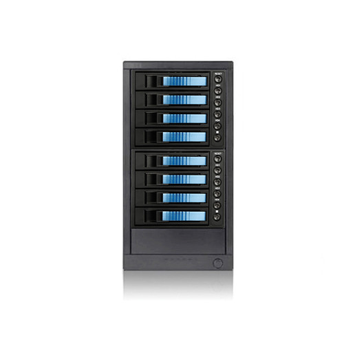 "iStarUSA 3.5"" 8-Bay SAS/SATA 6.0 Gb/s eSATA Hot-Swap Enclosure (Blue)"
