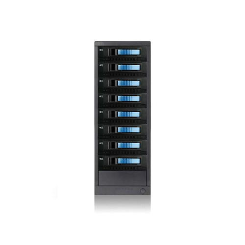 "iStarUSA 8-Bay 3.5"" SAS/SATA 6.0 Gb/s miniSAS Hot-Swap Enclosure Blue"