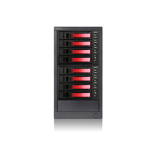 "iStarUSA 3.5"" 8-Bay SAS/SATA 6.0 Gb/s miniSAS Hot-Swap Enclosure (Red)"