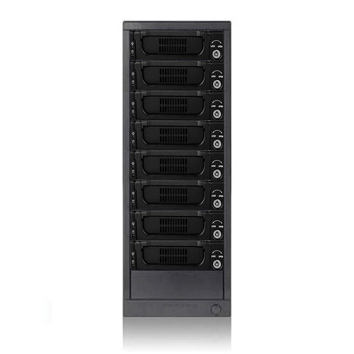 "iStarUSA 8-Bay 3.5"" SAS/SATA 6.0 Gb/s miniSAS Hot-Swap Enclosure"