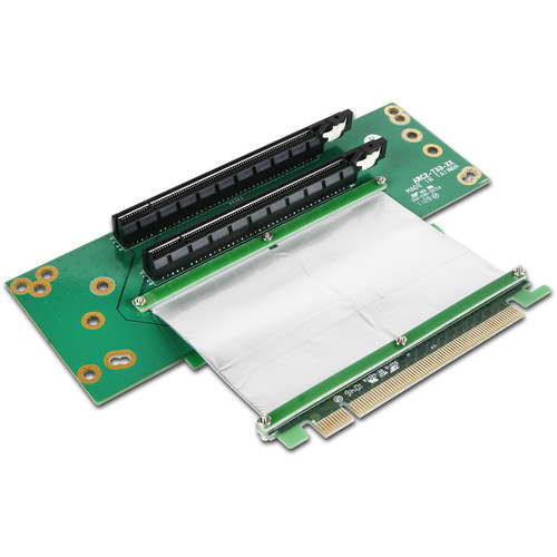"iStarUSA 2RU Two PCIe x16 Card with 2.75"" Ribbon Cable"