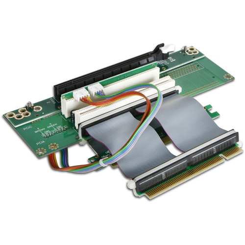 "iStarUSA One PCIe x16 and Two PCI Riser Card with 2.75"" Ribbon Cable"
