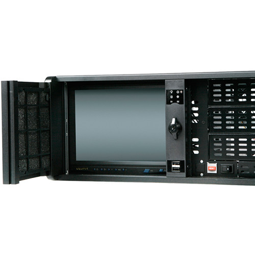 "iStarUSA 4 RU Compact Stylish Rackmount Chassis with 8"" Touch Screen LCD"