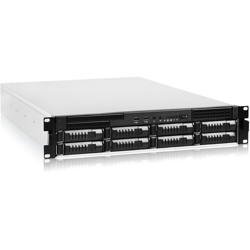 iStarUSA 8-Bay Storage Server Rackmount Chassis with 800W Redundant Power Supply (2RU)