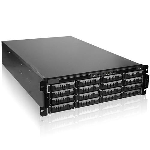 iStarUSA 16-Bay Storage Server Rackmount Chassis with 800W Redundant Power Supply (3 RU)