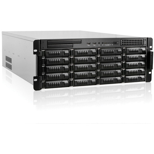 iStarUSA E4M20-120P8G E Storage Series E4M20 4 RU 20-Bay Server Rackmount Chassis with 1200W Power Supply