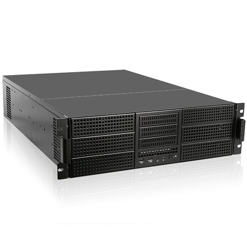 "iStarUSA E-ATX Three 3.5"" & Six 5.25"" Bays Rackmount Chassis with 800W Redundant Power Supply (3 RU)"