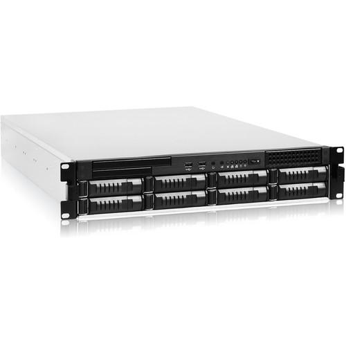 iStarUSA EX2M8 2 RU 8-Bay Storage Server Rackmount Chassis with 750W Redundant Power Supply