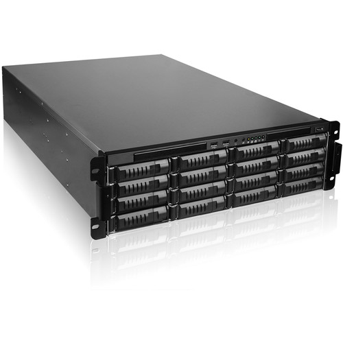 iStarUSA EX3M16 3 RU 16-Bay Storage Server Rackmount Chassis with 750W Redundant Power Supply