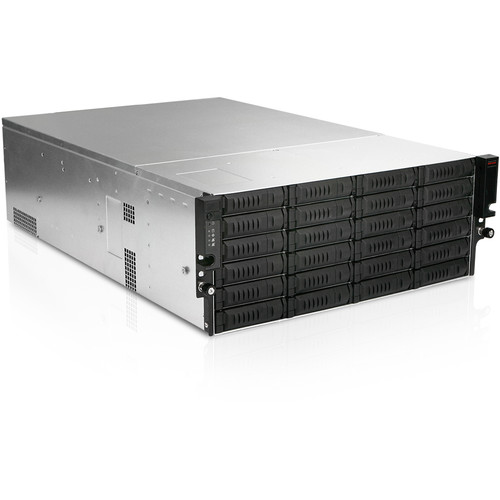 iStarUSA EX4M24 4 RU 24-Bay Storage Server Rackmount Chassis with 600W Redundant Power Supply