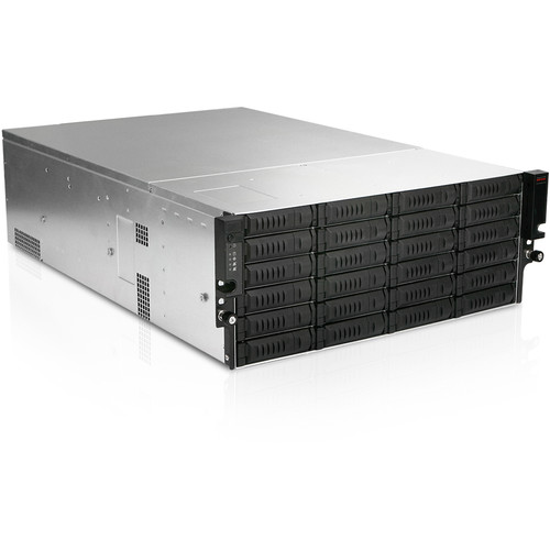 iStarUSA EX4M24 4 RU 24-Bay Storage Server Rackmount Chassis with 750W Redundant Power Supply
