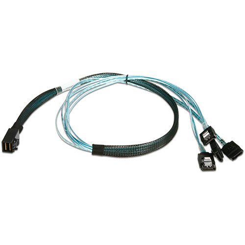 "iStarUSA HD miniSAS SFF-8643 to 4x SATA Latch Forward Breakout Cable (29.5"")"