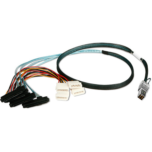 iStarUSA HD miniSAS SFF-8644 to 4x SFF-8482 Cable (3.3')