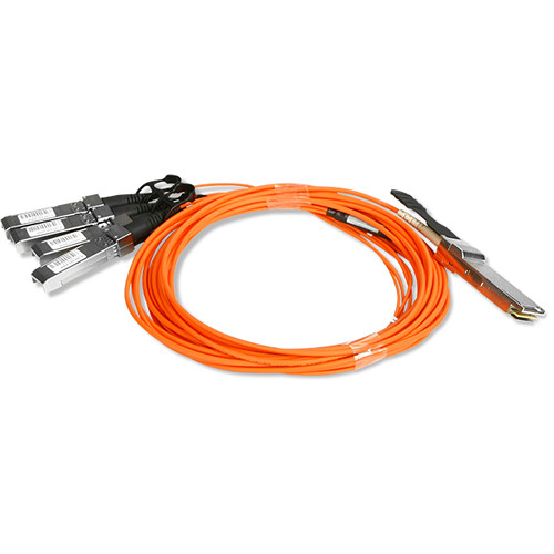 iStarUSA 40 Gb/s QSFP+ to 4x SFP+ Active Optical Split Cable (Orange, 16.4')