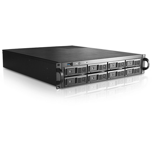 """iStarUSA 2 RU 3.5"""" 8-Bay Tray-Less Storage Server Rackmount Chassis"""
