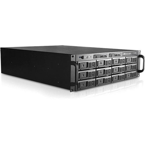 "iStarUSA 3 RU 3.5"" 12-Bay Tray-Less Storage Server Rackmount Chassis"