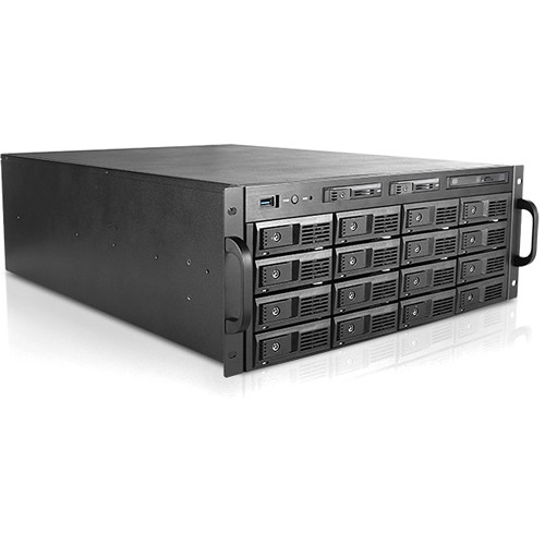 """iStarUSA 4 RU 3.5"""" 16-Bay Tray-Less Storage Server Rackmount Chassis"""