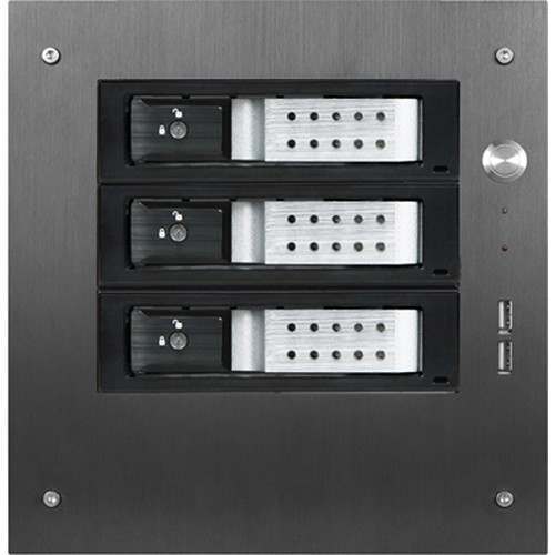 "iStarUSA Compact Stylish 3x 3.5"" Hotswap Trayless mini-ITX Tower (Silver HDD Handles)"
