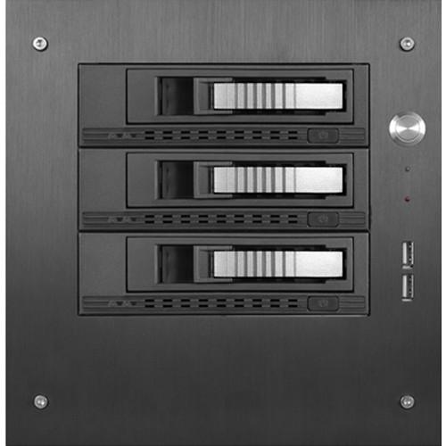 "iStarUSA Compact Stylish 3x 3.5"" Hotswap mini-ITX Tower (Silver HDD Handles)"