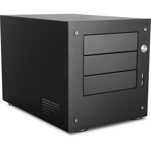 """iStarUSA 3 x 5.25"""" Bay Mini-ITX Tower with Front Plate (Black)"""