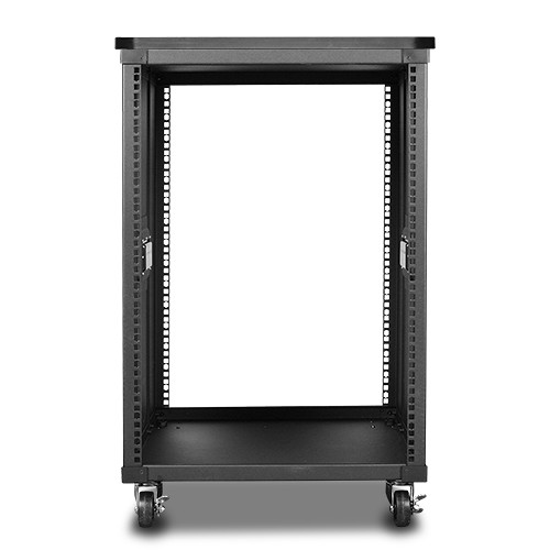 "iStarUSA 23.6"" Deep 15 RU Simple Server Rack with Wood Top (Black)"