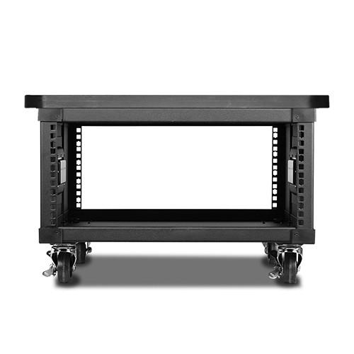"""iStarUSA 23.6"""" Deep 4 RU Simple Server Rack with Wood Top (Black)"""
