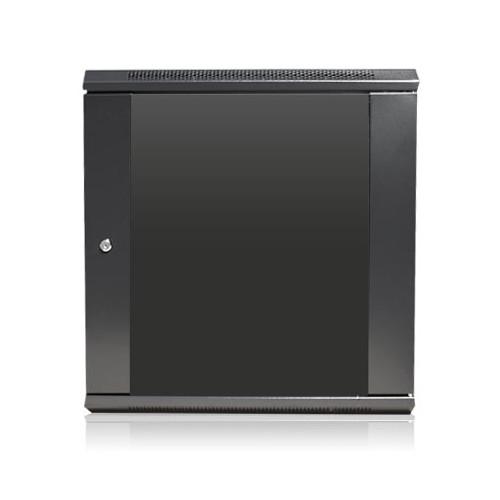 "iStarUSA Claytek WM1245-SFH25 Wallmount Server Cabinet with 1 RU Supporting Tray (12 RU, 16"" Interior Depth)"