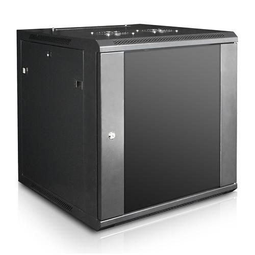 "iStarUSA Claytek WM1260-KBR1U Wallmount Server Cabinet with 1 RU Sliding Drawer (12 RU, 22"" Interior Depth)"