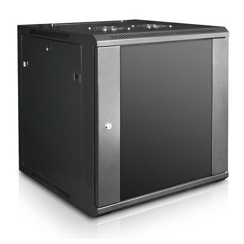 """iStarUSA Claytek WM1260-PD10 Wallmount Server Cabinet with 10-Outlet Overload Protection PDU (12 RU, 22"""" Interior Depth)"""