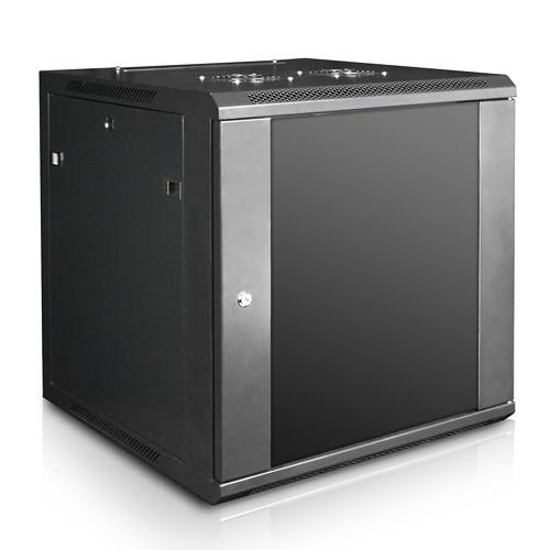 "iStarUSA Claytek WM1260-SFH25 Wallmount Server Cabinet with 1 RU Supporting Tray (12 RU, 22"" Interior Depth)"