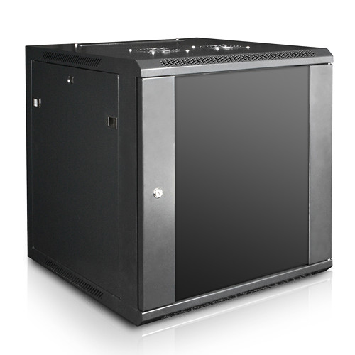 "iStarUSA Claytek WM1260-SFH25 Wallmount Server Cabinet with 1 RU Supporting Tray (12 RU, 22"" Interior Depth)"